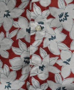 Détail motif Chemise manches longues imprimé floral
