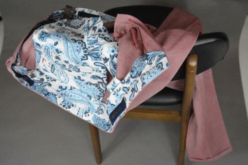 Doublure, Pantalon-chino-tissu-a-fins-quadrillages-cerise-style-printanier
