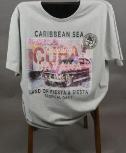 KITARO MEN, T-shirt imprimé esprit carte postale de la Havane, parfait pour une tenue estivale.