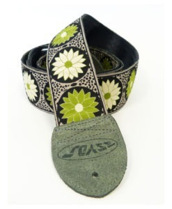 3SYDS Sangle Guitare Daisy Time Green