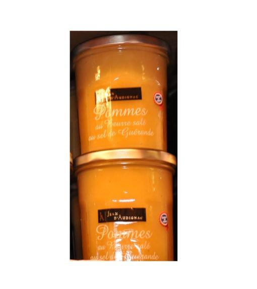 Confitures Jean d'Audignac- cuites au chaudron- Pomme au beurre salé au sel de guérande