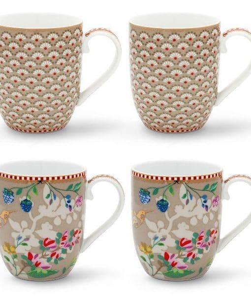 Kaki And 4 En Petits Floral LigneShopping Boutiques GoBy Coffret Click 2 Pip Mugs ÉphémèresVente Studio Collection 13TFcKJl