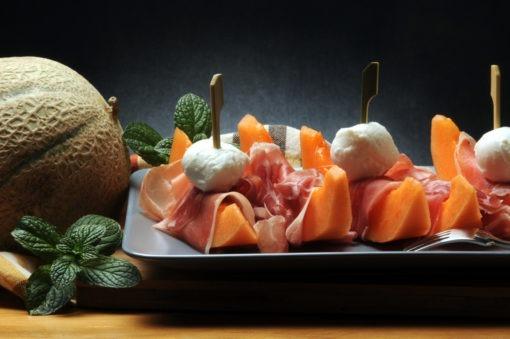 Prosciutto crudo de San Daniele and melone