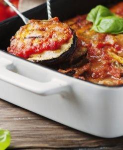 aubergine à la parmigiana, aubergine gratinées au four avec parmesan, parmigiano,