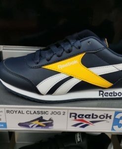 REEBOK ROYAL CLASSIC JOG 2 BLACK YELLOW MODE JUNIOR