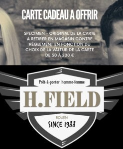 CARTE CADEAU H.FIELD