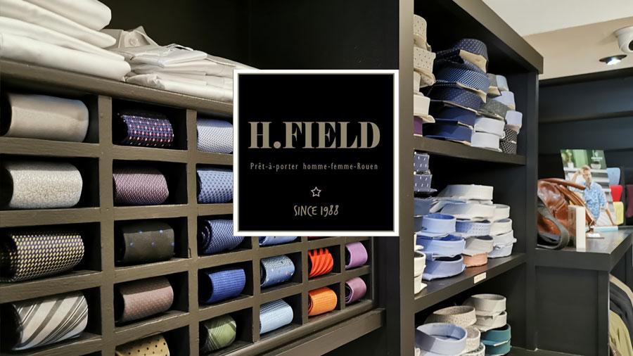 chemises hommes et cravates, H FIELD Boutique de prêt-à-porter homme & femme Rouen, rue Ganterie, Since 1988