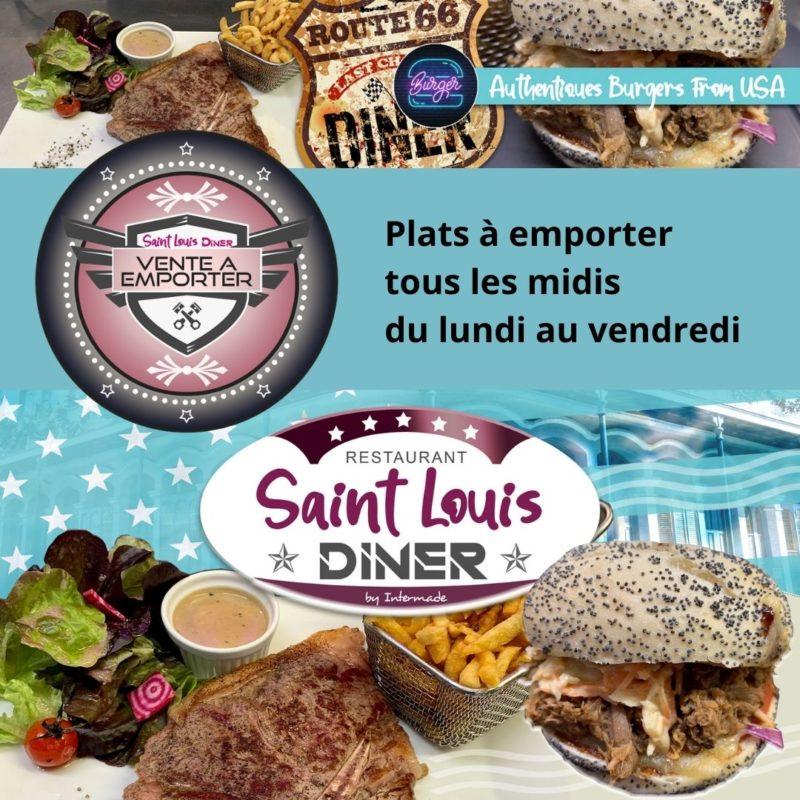 Plats à emporter tous les midis du lundi au vendredi Saint Louis Diner Isneauville